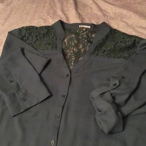 EXPRESS Emerald Green Blouse!!!
